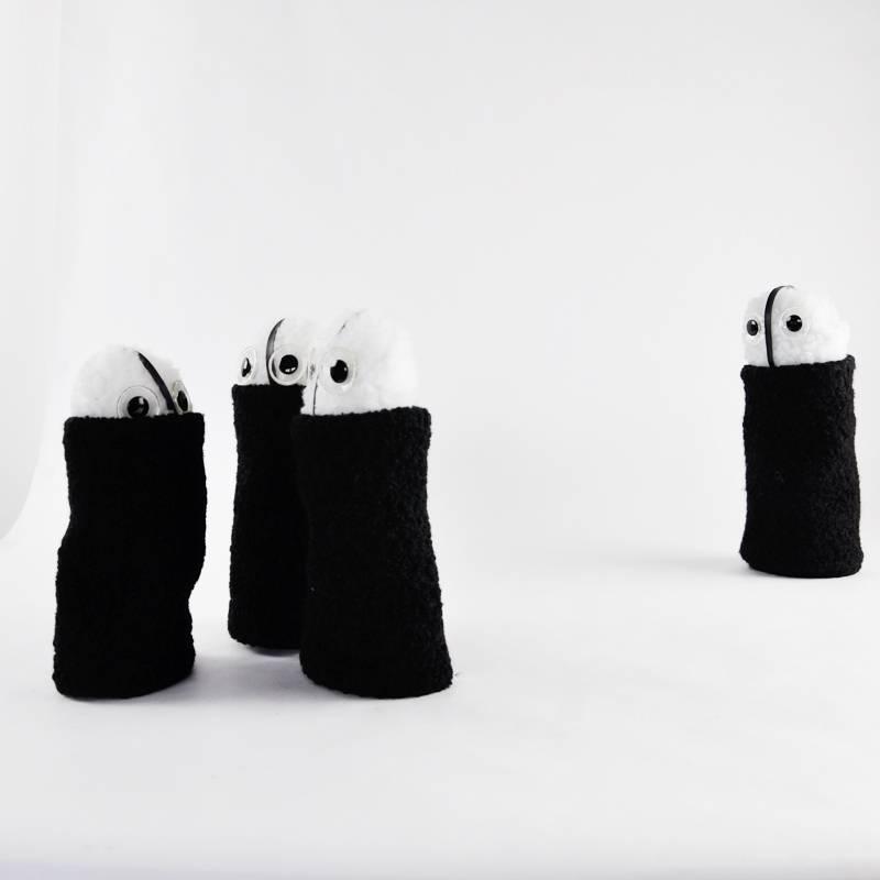 Handpuppe Design modern Museum Gugging Herr Horacek