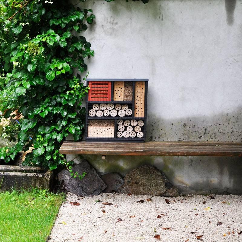 Insektenhotel modern klein anders design Fuellung