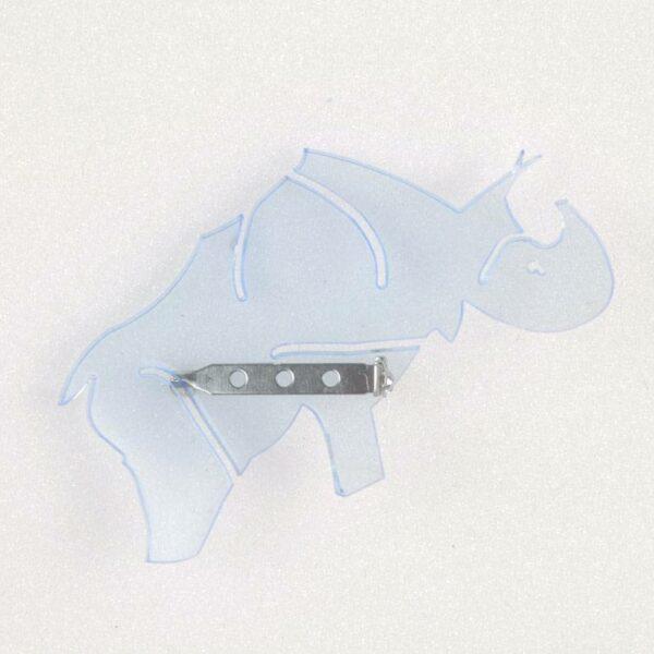 Brosche Design Acryl Rhino