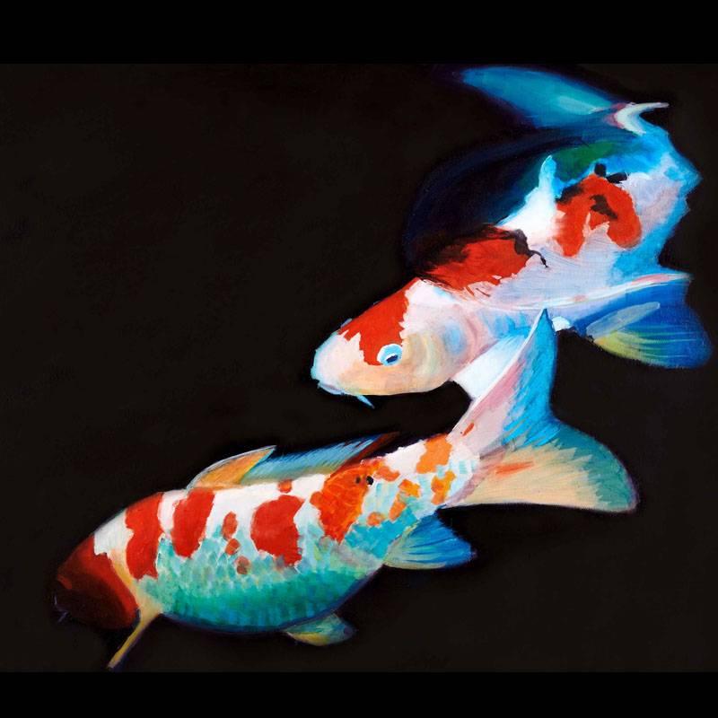 Koi Fische malen